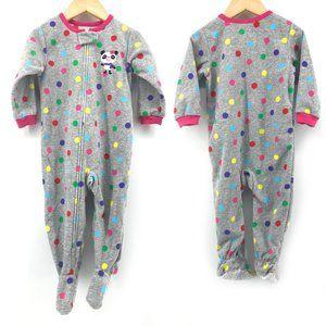 NEW🌸Carter's Polka Dot Panda Bear Fleece Onesie